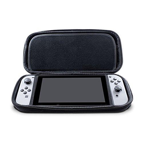 Nintendo Switch Case Housse de transport rigide avec 14 supports de cartouche de jeu avec Zipper Housse de voyage de protection (Noir)
