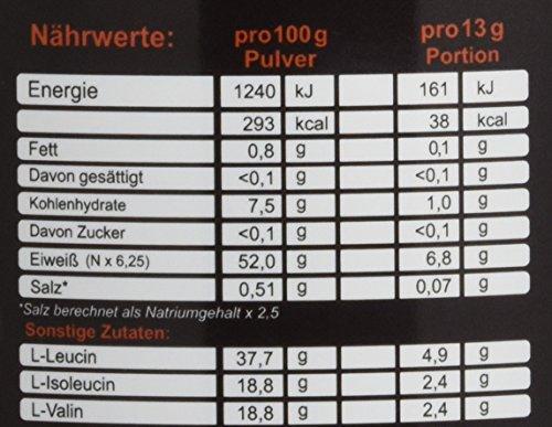 ZerOne Nutrition Bcaa Boost Hochdosiertes Pulver Aminosäuren Leucin Isoleucin Valin 2:1:1 Deutsche Premium Qualität Fitness Sport 500g (Wassermelone)