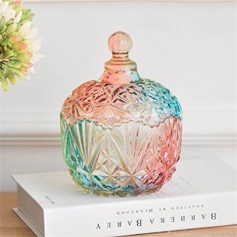 Uncle Sam LI- Stained caramelle di vetro serbatoio di stoccaggio vaso della decorazione della casa in vetro, 20 * 14,5 centimetri