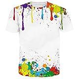 Chicolife Unisex Graffiti gedruckt Grafik Hipster Kurzarm T-Shirts T-Shirts