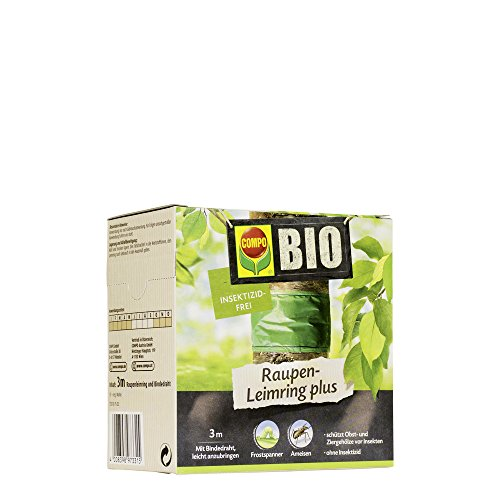COMPO BIO Raupen-Leimring, Leimfalle, Inklusive Bindedraht, Insektizid-frei, 3 m