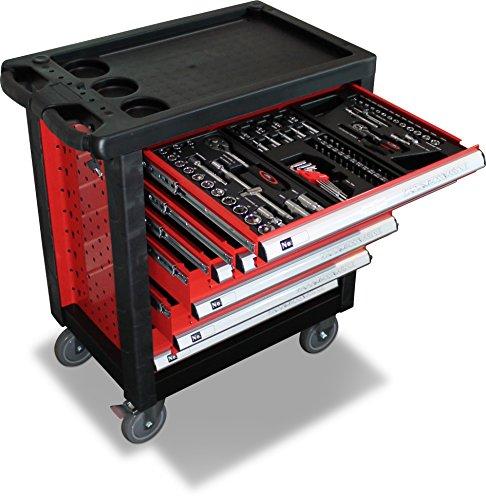 BD-Tools Werkstattwagen bestückt rot