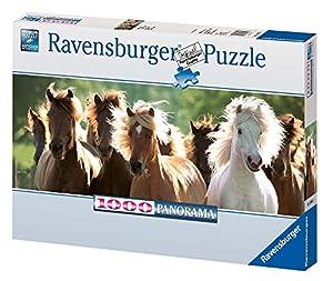 Ravensburger - Panorama Caballos, Puzzle de 1000 Piezas (15091 5)