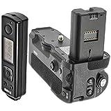 Meike Poignée d'alimentation pour Sony Alpha A9 A7rIII, remplace le Sony VG-C3EM, déclencheur à distance avec une fréquence radio de 2,4 GHz, MK-A9 Pro
