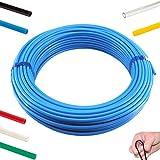 100 Meter - Polyethylen-Schläuche, Schwarz und Natur / 6x4 - 8x6mm, Pneumatikschlauch, Druckluftschlauch (6 x 4 mm, Blau)