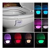 Motion Sensor LED Night Lamp yistu Body Sensing Quarter Bathroom Automatic Bathroom Light