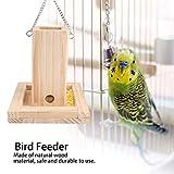 HEEPDD Mangiatoia per Uccelli, Tubo di Legno Naturale Che appende Gli Uccelli Alimentare i contenitori per Alimenti Conservare Gli alimentatori a Prova di Masticare