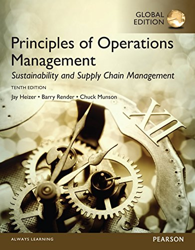 Principles of Operations Management: Sustainability and Supply Chain Management, Global Edition (English Edition) (Operations Jay Heizer, Management)