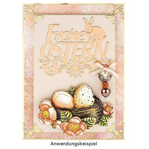 Fustelle a forma di Pasqua, 7,6 x 7,5 cm, 8,2 x 7,3 cm, 2 pezzi - 3
