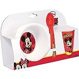 Mickey Mouse - Vajilla 3 piezas, de plástico (Gabbiano 6022816)