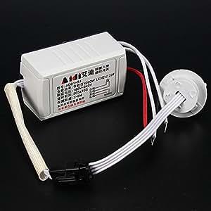 AUDEW 220V IR Lampes Infrarouge Intelligent Light Détection Commutateur Corps Capteur