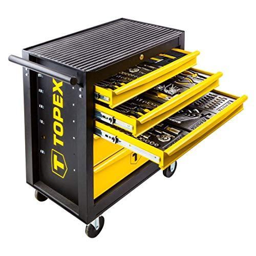 455 tlg Profi Werkstattwagen bestückt Werkzeugkasten gefüllt Werkzeugkiste Werkzeugkoffer Werkzeugwagen Werkzeugset