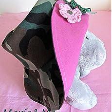 Sombrero niña reversible de loneta hecho a mano