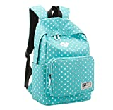 Rcool Leichte lockere Daypack Rucksack für Frauen Schultaschen (Blau)