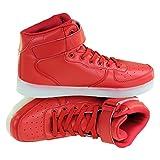 Pulox LED Schuhe Rot Gr. 39, 7 Farben, 11 Modi