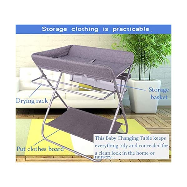 QZQKQ Universal Baby Cot Top Changer Portable Changing Table Diaper table Folding Baby Changing with Safety Straps QZQKQ *Material: Linen cloth, steel pipe *Suitable for 0-12 months baby, most comfortable height for you to take care of your baby *Quick and easy folding or collapsible by folding mechanism 6