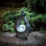 Garten-Skulptur, Solar betrieben, mit schöner Kugel