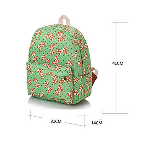 Borsa blu e viola vintage floreale stampato sacchetto di zaino per scuola della borsa del computer portatile dello zaino della tela di canapa per le ragazze delle ragazze delle ragazze Arco