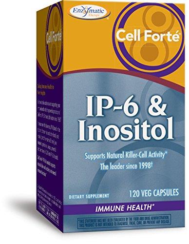 Inositol 120 Kapseln (Enzymatic Therapy | Cell Forte | IP-6 & Inositol | 120 vegetarische Kapseln | Immunsupport)