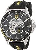 Scuderia Ferrari Hommes Squelette Automatique Montres bracelet avec bracelet en Silicone - 830601