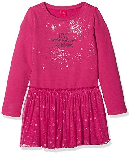 s.Oliver Mädchen Kleid 53.711.82.2712, Violett (Dark Pink 4607), 128