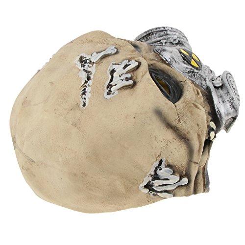 (SunniMix Halloween Gruselige Maske Gruselige Hexe Masken Mit Haar Hut Cosplay Kostüm Requisiten - Biochemie)