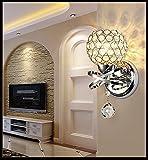 BDD Master-schlafzimmer Wandleuchte Wohnzimmer Parkett Einfache Kristall Treppe Wand Lampe Korridor Einzigen Kopf mit Lichtquelle,EIN,25 * 13 * 12.5CM