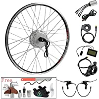 YOSE POWER 36V350W 26 Pouces Roue Arrière Cassette E-Bike Vélo Electrique Kit de Conversion avec LCD Affichage Contrôleur