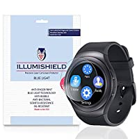 iLLumiShield - Samsung Gear S2 52mm Screen Protector + (HD) Blue Light UV Filter / Premium Clear Film / Anti-Fingerprint / Anti-Bubble Shield - [2-Pack]& Lifetime Warranty {4G, AT&T, T-Mobile}