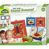 Simm 42685 - LENA®, Erstes Sticken, Tierformen, Schmetterling, Ente