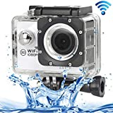 ALLSHOPSTOCK (#33) H16 1080P Portable WiFi Waterproof Sport Camera, 2.0 inch Screen, Generalplus 4248, 170 A+ Degrees Wide Angle Lens, Support TF Card(White)
