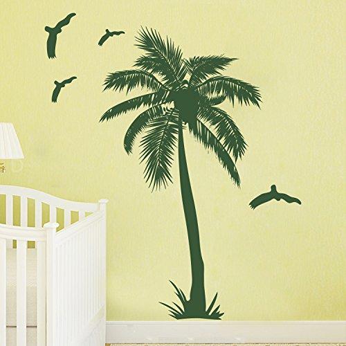 decalmile Palmen Baum Wandsticker Entfernbare Wandtattoo Wandaufkleber Für Wohnzimmer Schlafzimmer Büro Flur