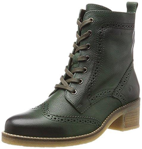 Be Natural Damen 25200 Combat Boots, Grün (Bottle), 39 EU Grüne Leder Stiefel