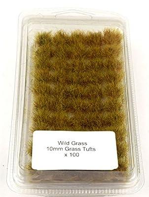 Terrain de bataille 10mm Wild Grass Self Adhesive Grass Tufts - Warhammer Miniatures Model