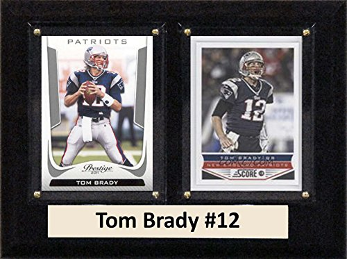 C & I Collectables NFL New England Patriots Tom Brady Zwei Karte Plaque, 15,2 x 20,3 cm braun