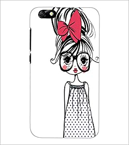 PrintDhaba Girl with Specs D-2319 Back Case Cover for HUAWEI HONOR 4X (Multi-Coloured)