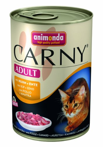 katzeninfo24.de Animonda Carny Adult mit Huhn plus Ente 400 g – Katzenfutter, 6er Pack (6 x 400 g)