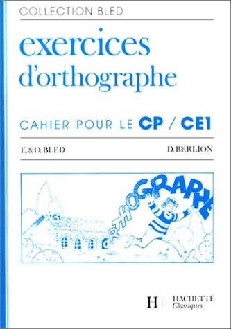 Cahier d'orthographe CP-CE1 (édition 1986)