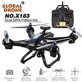 HARRYSTORE Starke Power Drone 6-Achsen mit 2MP WiFi FPV HD Kamera GPS Brushless Quadcopter Unterstützung VR (Schwarz)