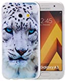 Roreikes Samsung Galaxy A5 2017 H�lle Case,TPU Silikon H�lle f�r Samsung Galaxy A5(2017) Handyh�lle Schale Etui Protective Cover R�ck mit Ultra slim transparent Gepr�gte Matte Muster kratzfest Design (5.2Zoll) Bild
