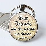 Gemini_mall® BBF Best Friends keychain Friendship Love Gift Keyring for Women