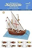 -Karavelle Segelschiff 14.-16. Jhr.- Pukcaka DIY Bastelbögen Papier-Karton für Kindergeburtstag als Geschenkidee, Bastelidee für Jungs