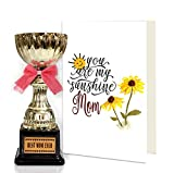 TIED RIBBONS mothers day | mother's day gift | mother day gift | Mothers day gifts from daughter | Golden Trophy With Mothers Day Special Greeting Card