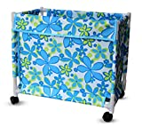 #8: TiedRibbons® Basket for Clothes Storage with Wheels | Laundry Trolley | Dirty Clothes Bin | Basket for Clothes (84 Ltr)