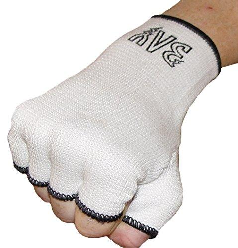 BAY Schlupfbandagen Größe M, weiß, Faustbandagen, elastische Innenhandschuhe, Handbandagen,...