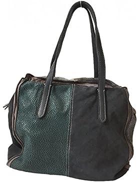 Caterina Lucchi Damen Shopper Handtasche Schultertasche L4838 AI1605 Leder multicolor grau