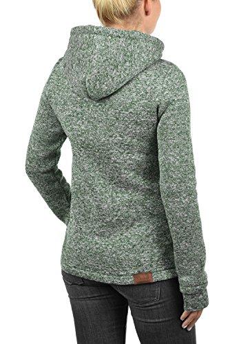 DESIRES Thory Damen Fleecejacke Sweatjacke Jacke Mit Kapuze Und Daumenlöcher, Größe:XL, Farbe:Climb Ivy (3785) - 3