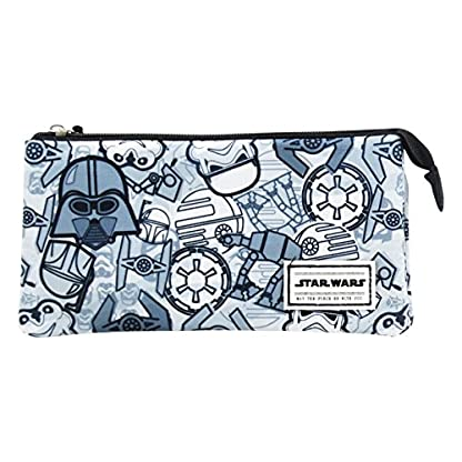 Star Wars Pictogram – Beauty Case con 3 Compartimentos Cerrado por Zip.