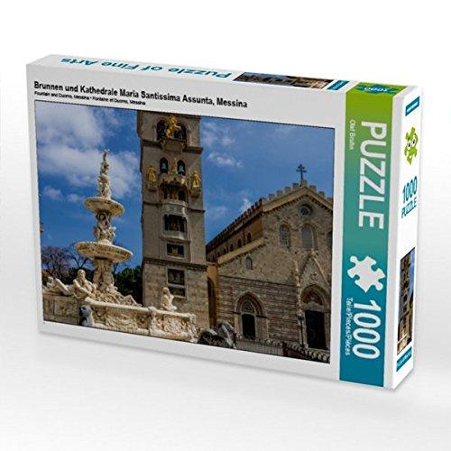 Brunnen und Kathedrale Maria Santissima Assunta, Messina 1000 Teile Puzzle quer (CALVENDO Natur)
