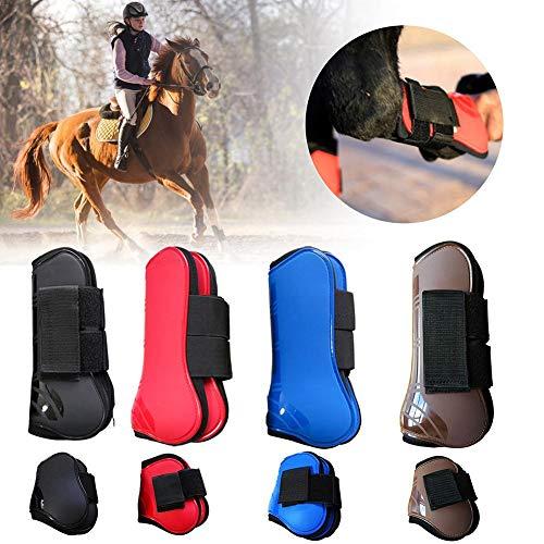 juman634 4PCS Horse Tendon Boots rutschfeste Horse Leg Boots Einstellbare Neopren Horse Leggings Schutz Horse Fly Boots -